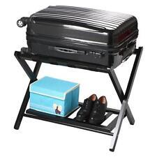 Wood Luggage Rack Folding Stand Shelf Suitcase Bag Storage Holder Travel Hotel