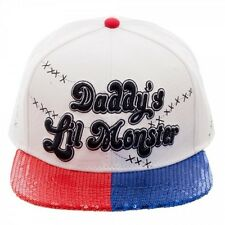 SUICIDE SQUAD - DADDY'S LIL MONSTER SNAPBACK CAP WITH COLOURED SEQUIN VISOR *NEW
