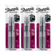 Sharpie Metallic Permanent Markers, Fine Point, Metallic Silver Ink, Pack of 6
