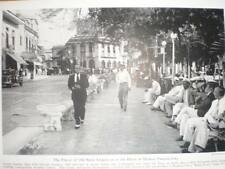 Panama City Plaza de Santa Ana 1941 printed photograph