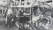 "1936 Ford  Assembly Line, engine to Frame 12X18"" Black & White Picture"