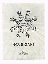 PUBLICITE ADVERTISING  1952   HOUBIGANT  pafum  CHANTILLY