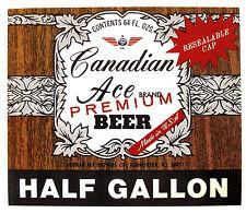 Canadian Ace Brewing CANADIAN ACE PREMIUM BEER beer label NJ 64oz