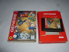 BOXED SEGA GENESIS VIDEO GAME EARTHWORM JIM 2 CARTRIDGE W BOX EARTH WORM