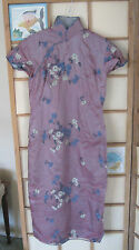 Very Special circa 1945 VTG Qipao Cheong Sam Chinese Dress 100% Silk Embroidered