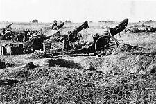 WW1 - Guerre 14/18 - Batterie de canons de 155 mm de l'armée américaine