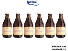 6 Bottiglie BIRRA CHIMAY Tappo BIANCA CL. 33 Trappista Belga Doppio Malto TRIPLE