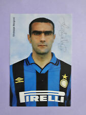 PHOTO CARTOLINA UFFICIALE POSTCARD SOCCER INTER BERGOMI 1995-96 NEW-FIO