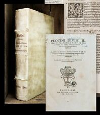 1562 Plotinus Plotin De rebus philosophicis libri LIIII. in Enneades sex...