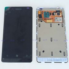 Black digitizer touch screen + pantalla LCD Assembly + frame for Nokia Lumia 800