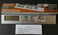 Photo Ruler With Digital Clock CALENDAR ALARM THERMOMETER MOON TREASURE It