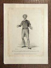 Antique Print 1826 Mr Harley as Billy Bombast GRAVURE ACTEUR ANGLAIS Actor