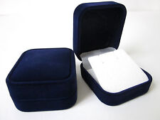 WHOLESALE-20 x Luxury BLUE Velvet Earrings Jewellery Box-ONLY 75p each-RF11/BW