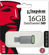 Kingston 16GB USB DataTraveler 50 16G USB 3.1 Flash Pen Drive DT50/16GB Retail