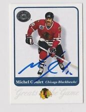 2001 Greats of the Game Michel Goulet Chicago Blackhawks Autographed Card