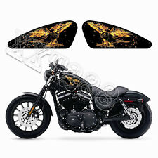 Flame Eagle Motorcycle Gas Tank Decals Emblem Badges Stickers For Harley