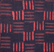 2½ Yards, Hand Block Print Cotton. Black & Red, Natural Dyes. Artisan Fabric