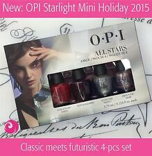 OPI All Stars Mini Set Starlight Holiday 2015 - 4 pcs x 0.125oz (Free Intl Ship)