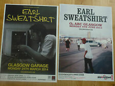 Earl Sweatshirt Scottish tour Glasgow concert gig posters x 2