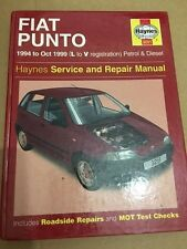 HAYNES FIAT PUNTO 1108cc 1242cc 1698cc WORKSHOP MANUAL 1994-1999