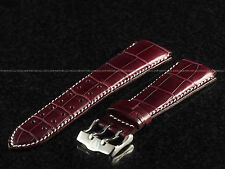Authentic 20 mm TechnoMarine 7619 Wine Gator Strap W/ SS Dual Pin Buckle
