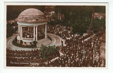 The Band Enclosure Bandstand Southport Lots Of People Deck Chairs Real Photo RP