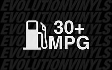 30+ MPG Sticker Decal Vinyl Drift honda civic illmotion ill lowered fatlace JDM