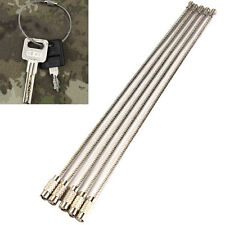 5 PCS Stainless Steel 20cm Wire Keychain Cable Key Ring for Outdoor