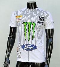 Dc shoes Usa Skateboard Co. Ken block Monster Energy Mens T shirt Small