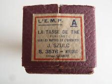 ROULEAU ORGUE DE BARBARIE  L'E.M.P LA TASSE DE THE FOX-TROT EDITEUR SALABERT