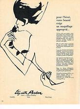 PUBLICITE ADVERTISING  1962   ELISABETH  ARDEN  cosmétiques