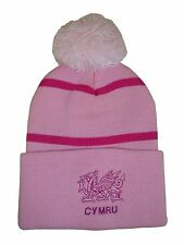 Wales Rugby Bobble Hat  - Pink