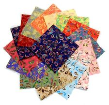 """30 5"""" Quilting Fabric Squares Bright Flip Flops Charm Pack"""