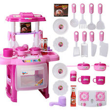 Boys Girls Childrens Kids Kitchen Play Set Pretend Toy Game Tools for Xmas Gift