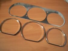 1997-2001 Toyota Camry Gauges Bezel Cluster Dash Trim With Chrome Rings