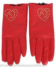 Armani Jeans Damen Leder Handschuhe Women Leather Gloves Futter aus Wolle Wool