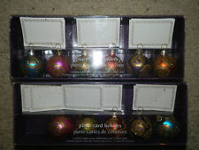 Christmas Place Card Holders and Cards Christmas Tablecloth Glitter Bulbs