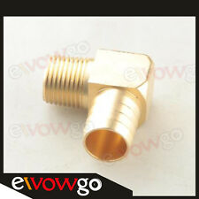 """3/4"""" Male 90 Elbow Brass Hose Barbs Barb To 1/2"""" NPT Pipe Male Thread"""