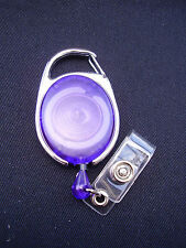 Purple Retractable Belt Clip Reel For Police/Security ID Pass Card/Badge Holders