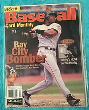 BECKETT BASEBALL MAGAZINE BARRY BONDS SAN FRANCISCO GIANTS SEPTEMBER 2001