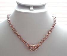 KIRKS FOLLY OVAL CHAIN MAGNETIC INTERCHANGEABLE NECKLACE COPPERTONE