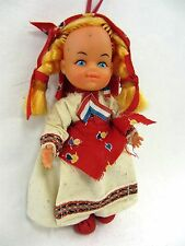 "Dutch Girl 4.5"" tall plastic Doll - Netherlands - can be hung"
