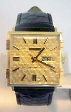 NOS 18K Gold JUVENIA MACHO DAY DATE Mens 25J AUTOMATIC Watch Ref 9166* SERVICED