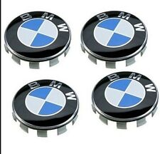 4 Pcs BMW Genuine Emblem Logo Badge Hub Wheel Rim Center Cap 68mm