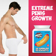 NAUGHTY BUT NICE XXL SUPERSIZED PENIS ENLARGEMENT PILLS – BIGGER THICKER PENIS