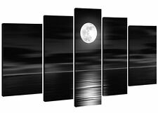Ready to Hang 5 Piece Modern Art Abstract Painting Canvas Wall Black Framed Big