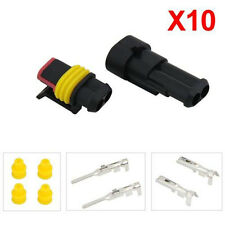 Sealed Truck 10 Kits 2 Pin Way Waterproof Wire Connector Plug Set Car