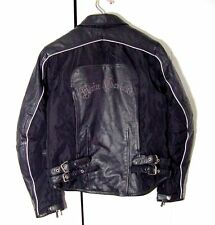 Hein Gericke Womens Black Leather /Nylon Moto Jacket Sz 12 /XL