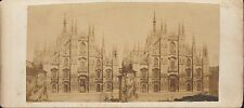 Vintage/Antique 3D Stereoview Card - Milan Cathedral