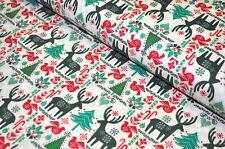 ESCANDINAVIA USA tela diseñador 0,5 m NAVIDAD Navidad ABETOS SUECIA B